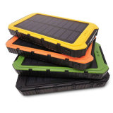 carregador solar universal duplo Powerbank do USB do banco da potência 10000mAh solar