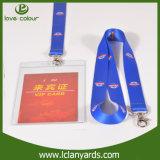 Cordon imprimé à bas prix bon marché Ruban coloré personnalisé avec titulaire de carte d'identité