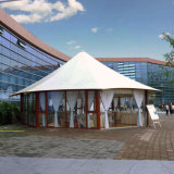 Pavillon enduit de tente d'usager de PVC de bâti extérieur antipluie d'alliage d'aluminium