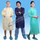 Lokalisierungs-Kleid, steriles Lokalisierungs-Kleid, Binden-Zurück Wegwerflokalisierungs-Kleid