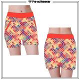 Shorts por atacado da ginástica de mulheres Sublimated costume