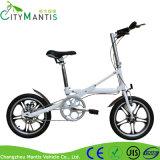 Складывая электрический велосипед для штока