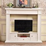 セリウムの証明書(346)が付いている現代簡単なTVの立場の白い暖炉