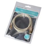 штепсельная вилка 1m/2m/3m покрынная золотом поручая кабель USB для iPhone