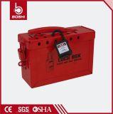 BdX02安全赤い鋼鉄ロックアウトキットかボックスのマスター、セリウムとのBradyのブランド