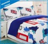 Ropa de cama de la cubierta del Duvet de Microfiber del diseño del indicador de Reino Unido y de los E.E.U.U.
