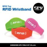 Wristband impermeabile personalizzato Ntag216 del silicone NFC