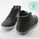 Тапка отдыха обуви лодыжки PU ботинок людей (SNC-011313)