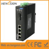 Interruptor de rede Ethernet Industrial de 5 Megabit Port Fiber