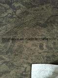 Mircoのブラシのプリント前側が付いている灰色の混合物の羊毛