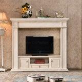 Meubles modernes de maison de cheminée de stand en bois TV (346)
