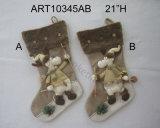 """Una calza della 21 """" alce di H, decorazione di Asst-Natale 2"""