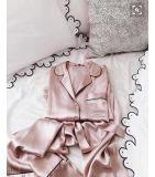 Tela de seda dos pijamas de 100%