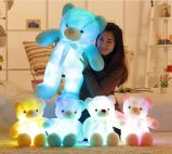 Colorful Lighting Up Jouets en peluche pelucheux en peluche