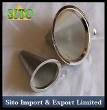Inoxidable perforado café Gotero, filtro de cono