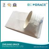 600G/M2 de geweven silicone-grafiet-Teflon van de Glasvezel beëindigt de Zak van de Filter