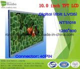 """10.1 """" modules de TFT LCD de 1280X800 Lvds, Nt51018, 40pin pour la position, sonnette, médicale"""