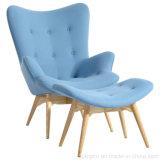 Luxo Lounge Arne Jacobsen estofamento de tecido cadeira de ovo (SP-HC389)