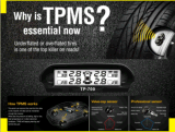 Sistema de Monitor de Pressão de Pneus TPMS do carro TP LED