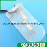 Cr2032 Batteriehalterung mit den roten/schwarzen Leitungen, Deckel und Schalter (Farbe: Weiß)