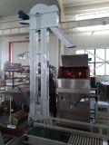 Nahrungsmitteleinsacken-Maschine mit Förderanlage und Nähmaschine