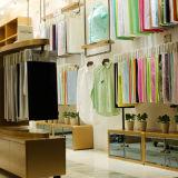 La tela unita di bambù brillante di nylon del cotone gradice il tessuto