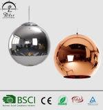 Replik-kupferner Farbton und Spiegel-Kugel-hängende Glaslampe