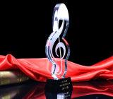De Trofee van de Muziek van het Kristal van de Douane van de Trofee van Bodybuilding van het kristal