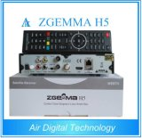 Hoogtepunt in Voorraad! De Digitale Zgemma H5 SatellietOntvanger van de lucht Linux OS Enigma2 DVB-S2+T2/C H. 265 TweelingTuners