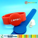 Security Locked Waterproof Passive silicone RFID bracelet