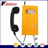 Telefon-Hörer mit 3.5mm machte mit gepanzertem Netzkabel mit der Hand fest
