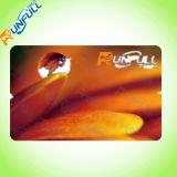 Cartão plástico do PVC da cor plástica do ouro do cartão Cr80