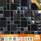 Pietra di placcatura di colore e mosaico neri di vetro per interno ed esterno (M855005)
