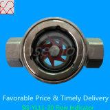 Indicador de flujo visual del agua con la rueda de paleta
