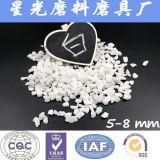 白い溶かされた酸化アルミニウムの穀物