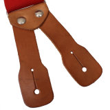 Schwere elastische Material-Form-echtes Leder Buttone Loch-Aufhängevorrichtungen (RS-137175)