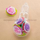 Ясная круглая вися стеклянная бутылка вазы для украшения венчания