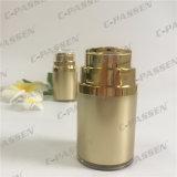 botella privada de aire del tarro poner crema de acrílico de lujo del oro 30g (PPC-ARCJ-011)