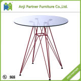 현대 디자인 4 색깔 강철 기본적인 커피용 탁자 유리제 바 테이블 (골짜기)