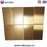 cuivre de rouge d'or de Rose de plaque de couleur de l'acier inoxydable 201 304 316