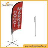 Bandeira de praia pequena da impressão de Digitas da fibra de vidro da promoção do evento/bandeira do vôo