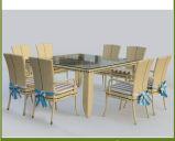 Outdoor Rattan Dining Set Restaurant Korbmöbel für Weihnachten