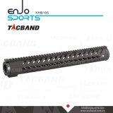 Composto della fibra del carbonio di Keymod Handguard della guida di Picatinny di 165 pollici (CFC)
