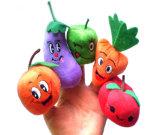 주문 견면 벨벳에 의하여 채워지는 과일 & 야채 핑거 괴뢰