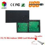 F3.75 Interior SMD Rg LED Pixeles Módulo Pixeles Es 64X32 Tamaño Es 304X152mm, 1/16 Exploración P4.75 con Hub08