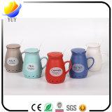 Taza de café de cerámica de la taza del nuevo logotipo del diseño modificado para requisitos particulares