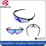 Vidros compatíveis de obstrução claros azuis da bicicleta do capacete do elevado desempenho