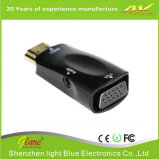 Conversor de HDMI fêmea para VGA Cabo de áudio para 1080P
