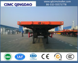 Cimc 40FT Semi-Trailer Flatbed do recipiente do eixo de 3 Fuwa/BPW