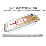 Caso ecute suave delgada flexible de goma laterales + Claro Estilo trasera dura para el iPhone 7 Plus